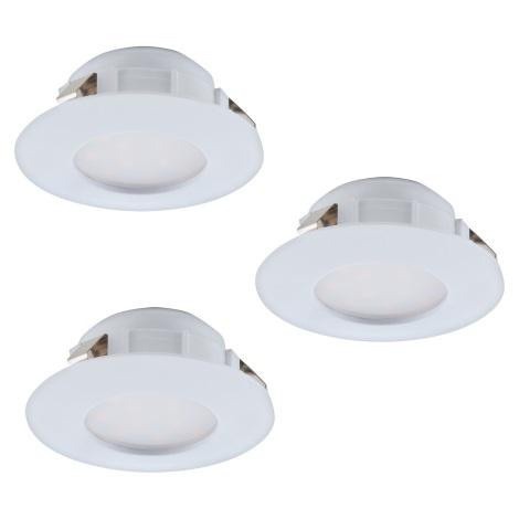 Eglo 95807 - SADA 3x LED podhľadové svietidlo PINEDA 3xLED/6W/230V