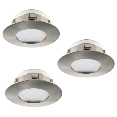Eglo 95809 - SADA 3x LED podhľadové svietidlo PINEDA 3xLED/6W/230V