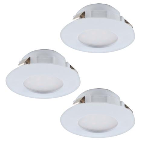 Eglo 95814 - SADA 3x LED podhľadové svietidlo PINEDA 3xLED/6W/230V