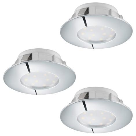 Eglo 95815 - SADA 3x LED podhľadové svietidlo PINEDA 3xLED/6W/230V