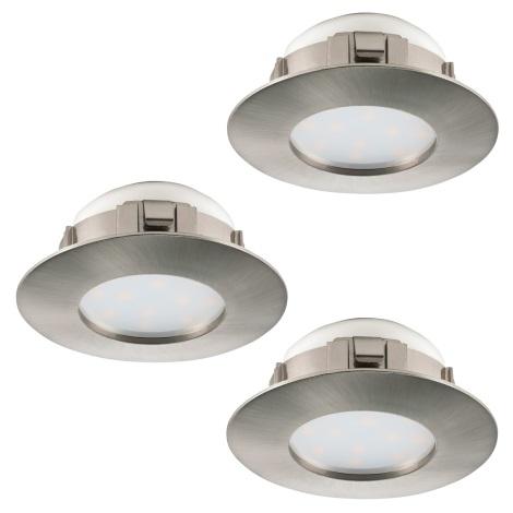 Eglo 95816 - SADA 3x LED podhľadové svietidlo PINEDA 3xLED/6W/230V