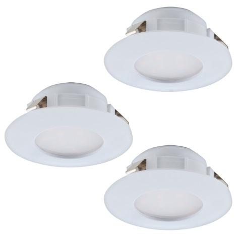 Eglo 95821 - SADA 3x LED podhľadové svietidlo PINEDA 3xLED/6W/230V