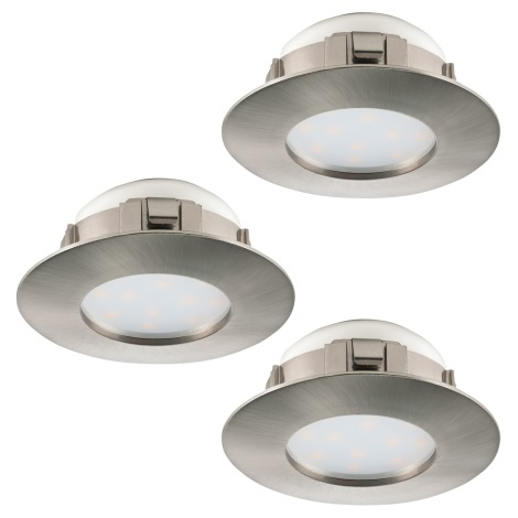 Eglo 95823 - SADA 3x LED podhľadové svietidlo PINEDA 3xLED/6W/230V