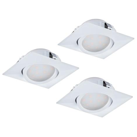 Eglo 95844 - SADA 3x LED podhľadové svietidlo PINEDA 3xLED/6W/230V