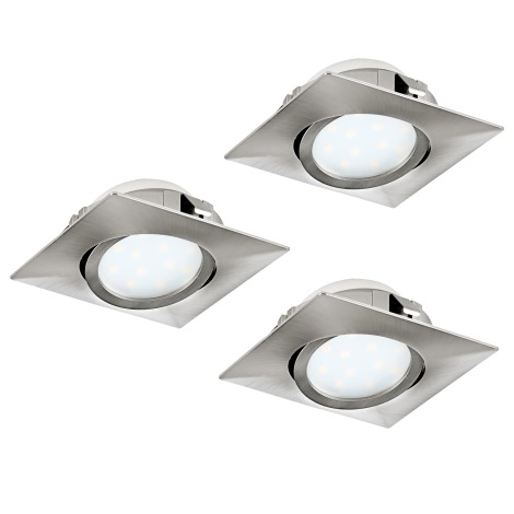 Eglo 95846- SADA 3x LED podhľadové svietidlo PINEDA 3xLED/6W/230V