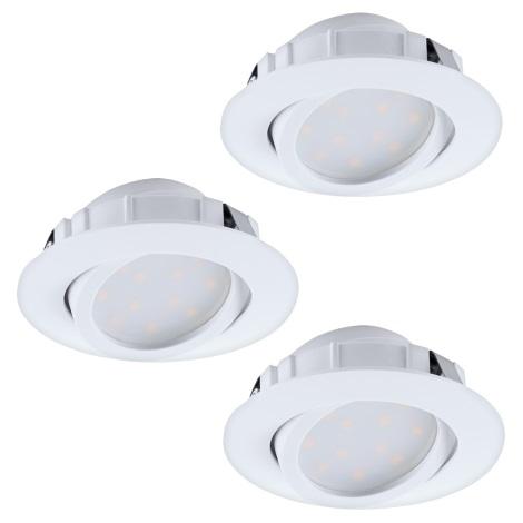 Eglo 95851 - SADA 3x LED podhľadové svietidlo PINEDA 3xLED/6W/230V