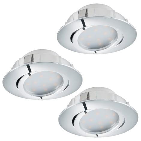 Eglo 95852 - SADA 3x LED podhľadové svietidlo PINEDA 3xLED/6W/230V