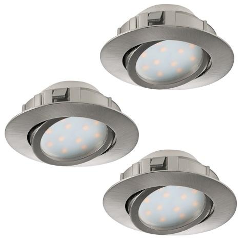 Eglo 95853 - SADA 3x LED podhľadové svietidlo PINEDA 3xLED/6W/230V