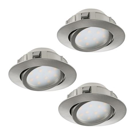 Eglo 95859- SADA 3x LED Podhľadové svietidlo PINEDA 3xLED/6W/230V