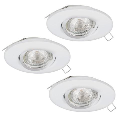Eglo 95895 - SADA 3x LED podhľadové svietidlo PENETO 1 3xGU10-LED/3W/230V