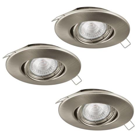Eglo 95899 - SADA 3x LED podhľadové svietidlo PENETO 1 3xGU10-LED/3W/230V