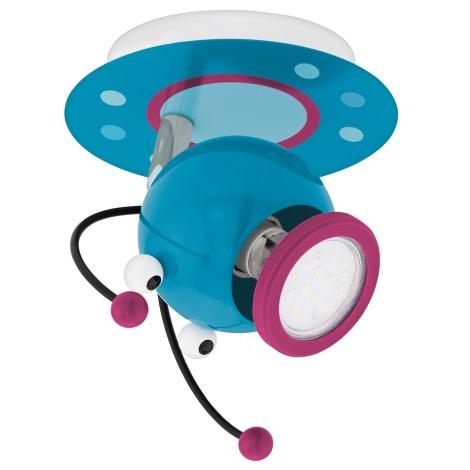 Eglo 95941 - Detské bodové svietidlo LAIA 1 1xGU10-LED/3W/230V