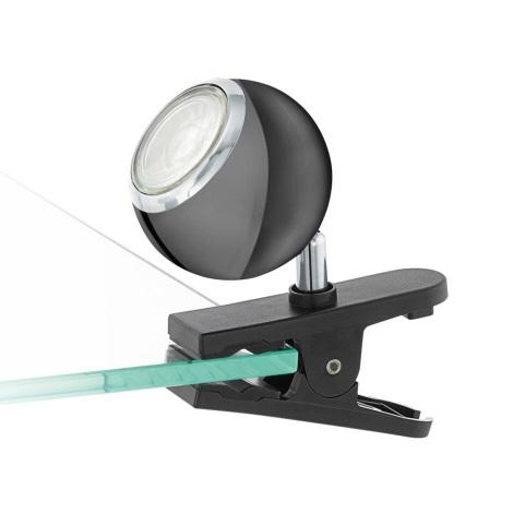 Eglo 96838 - LED Bodové svietidlo s klipom BIMEDA 1xGU10/3,3W/230V čierna
