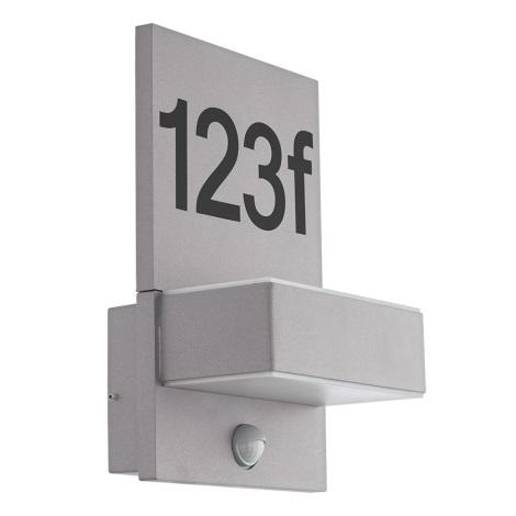 Eglo 97127 - LED domové číslo so senzorom ARDIANO 2xLED/5,6W/230V IP44