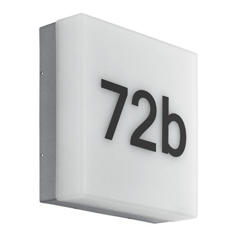 Eglo 97289 - LED domové číslo CORNALE LED/8,2W/230V