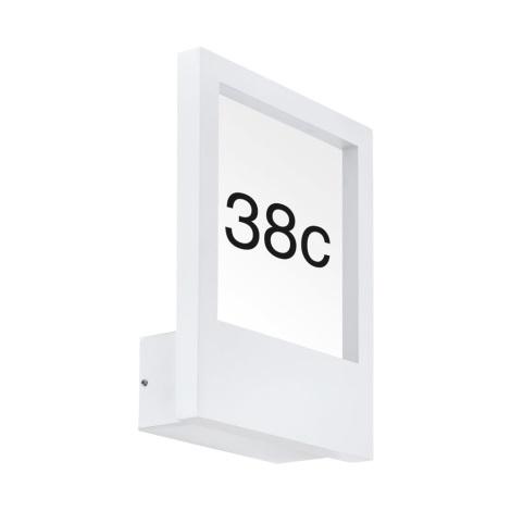 Eglo 98143 - Domové číslo MONTEROS 1xE27/28W/230V IP44 biela