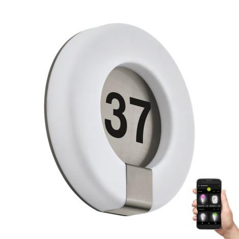 Eglo 98145 - LED RGB Domové číslo MARCHESA-C LED/15W/230V IP44