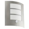 Eglo Blooma - Vonkajšie nástenné svietidlo so senzorom SANREMO 1xE27/60W/230V