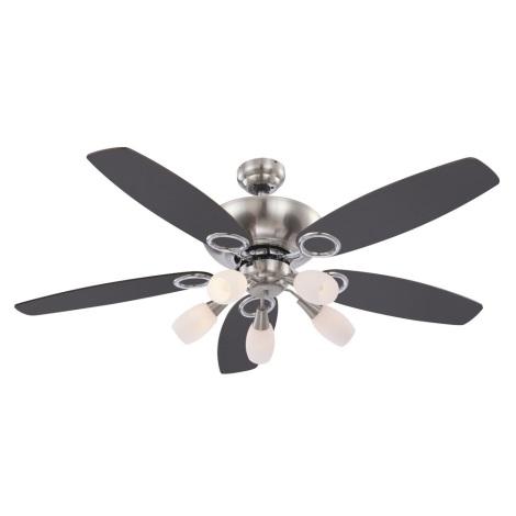 GLOBO 0337 - Stropný ventilátor JERRY 5xE14/40W/230V