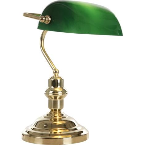 GLOBO 2491 - stolná lampa ANTIQUE 1xE27/60W zelená