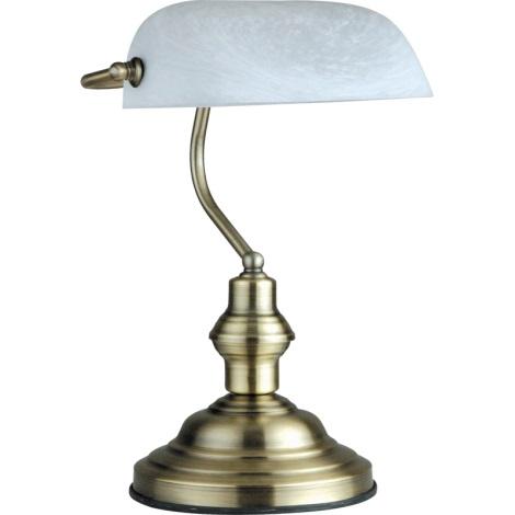 GLOBO 2492 - stolná lampa ANTIQUE 1xE27/60W biela