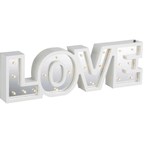 Globo 29979 - LED stolná lampa LOVE 20xLED/0,06W/3xAA chróm