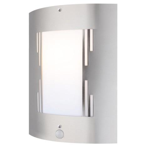 GLOBO 3156-3S - Vonkajšie nástenné svietidlo s čidlom ORLANDO 1xE27/60W/230V