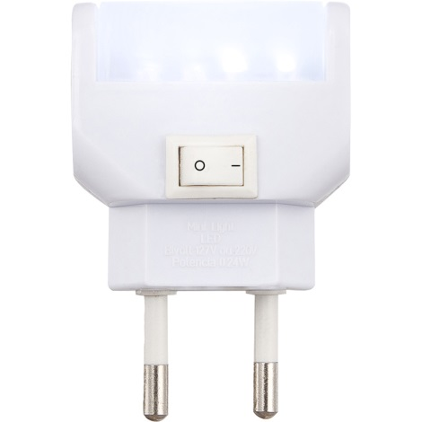 GLOBO 31908 - LED orientačné svietidlo s vypínačom CHASER LED 4xLED/ 0,24 W/13V