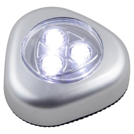 GLOBO 31909 - LED orientačné svietidlo FLASHLIGHT 4xLED/0,21W/3xMicro (AAA) 1,5 V