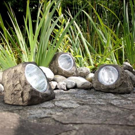 Globo 3302 - Dekoratívne solárne LED svietidlo KAMEŇ 4xLED/0,06W/3,2V