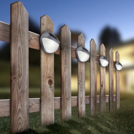 Globo 33429-12 - Solárne nástenné LED svietidlo SOLAR 2xLED/0,06W/1,2V