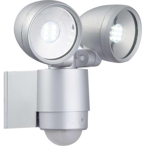 Globo 34105-2S - LED vonkajšie svietidlo s čidlom RADIATOR II 2xLED/3W/230V