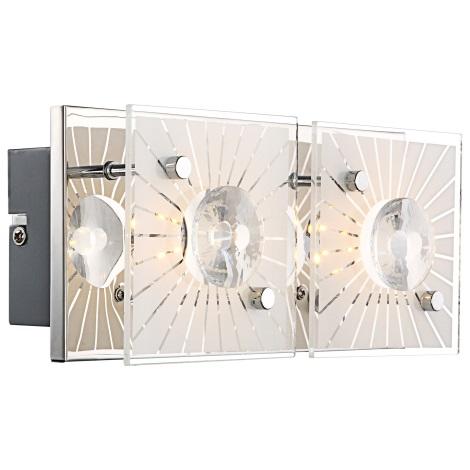 GLOBO 41691-2 - LED nástenné svietidlo SANTI 2xLED/4W/9V