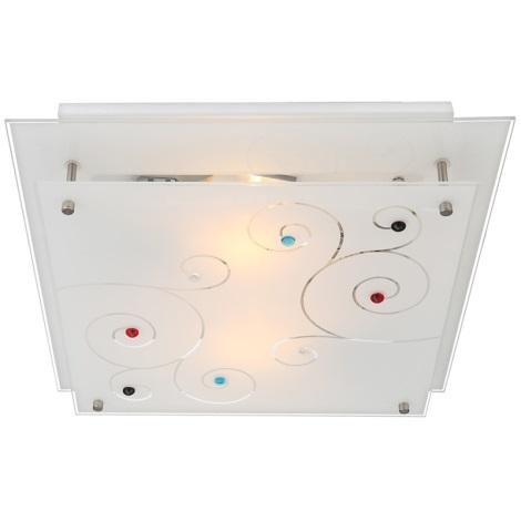 GLOBO 48140-2 - Stropné svietidlo DL CHROM 2xE27/40W/230V