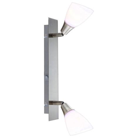 GLOBO 5451-2 - nástenné svietidlo/stropné svietidlo FRANK 2xE14/40W