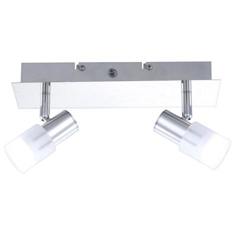 GLOBO 56200-2 - LED Nástenné svietidlo s vypínačom GLOSS 2x LED/3W/3,5V