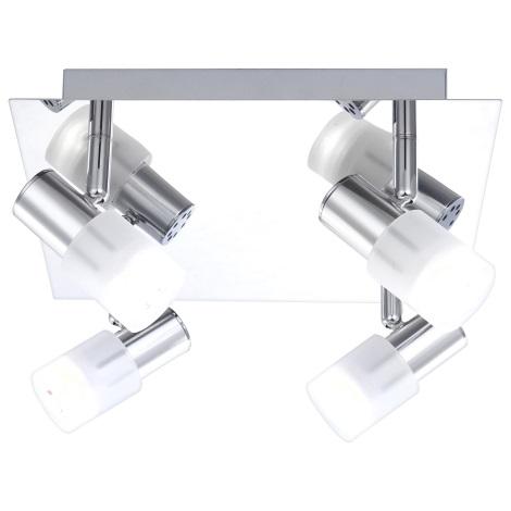 GLOBO 56200-4 - LED Bodové svietidlo s vypínačom GLOSS 4x LED/3W/3,5V
