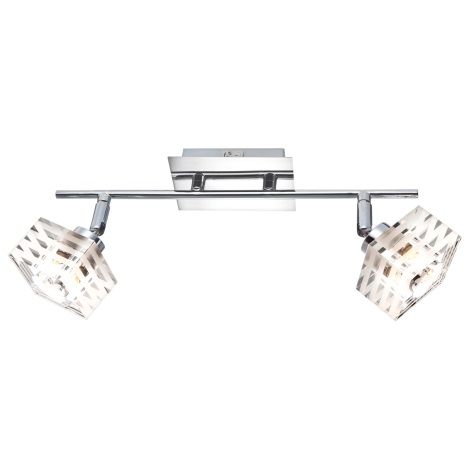 GLOBO 56448-2 - Bodové svietidlo s vypínačom APENNIN 2xG9/33W