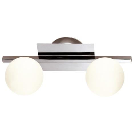 GLOBO 5663-2 - Kúpeľňové svietidlo CARDIFF 2xG9/33W/230V