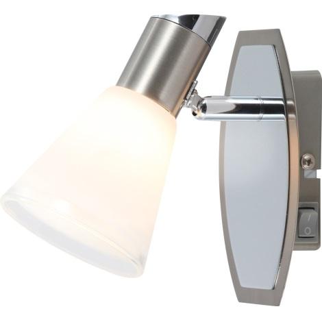 GLOBO 56800-1 - Bodové smerové svietidlo BRADLEY 1xG9/33W s vypínačom