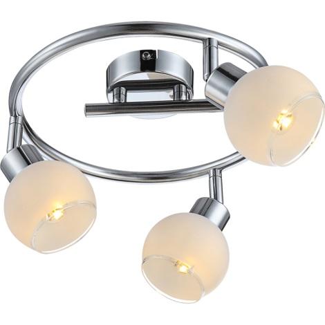 Globo 56963-3S - LED stropné svietidlo SION 3xGU10LED/4W