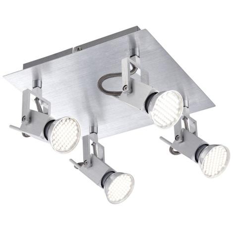GLOBO 57870-4 - Bodové LED svietidlo CLIMAX 4xGU10/3,5W/230V