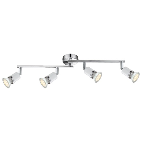 GLOBO 57996-4 - LED Bodové svietidlo FINA 4xGU10LED / 2,5 W