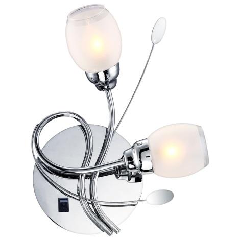 GLOBO 68283-2W - LED Nástenné svietidlo BILL 2xG9/33W, 6xLED/0,18 W