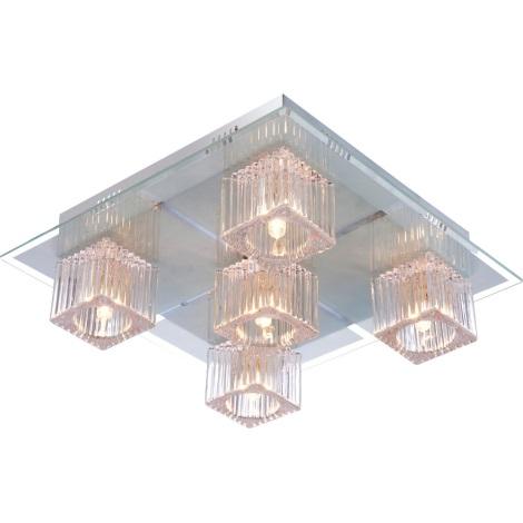 GLOBO 68424-5 - LED stropné svietidlo ANIMUS 5xG9/33W +15 xLED/0,2 W/12V