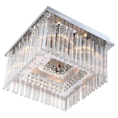 Globo 68567-6 - Kryštálové stropné svietidlo VINCE LED  6xG4/20W +80xLED/0,06W