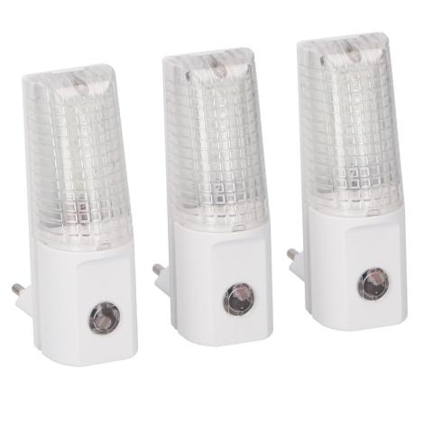 Grundig 99 – SADA 3x LED Nočné svetlo do zásuvky 3xLED/0,5W/230V