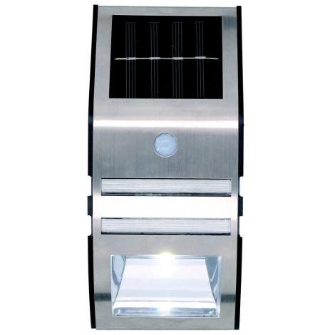 Grundig - LED Solárne nástenné svietidlo so senzorom 1xLED IP44