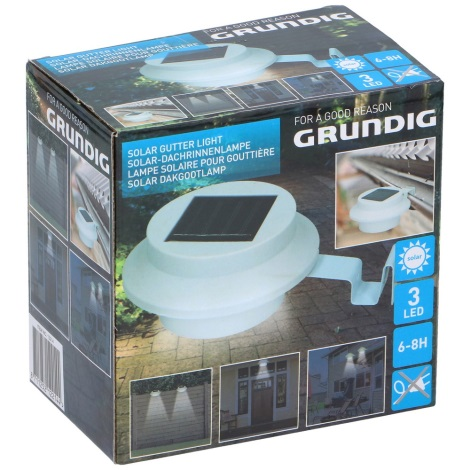 Grundig - LED Solárne svietidlo s držiakom 3xLED/1xAA