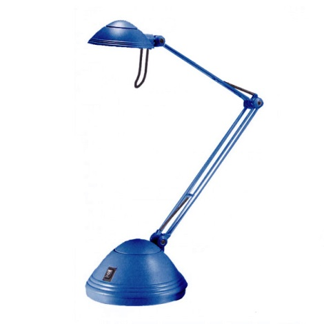 Halogénová stolová lampa ELA 1xGY6, 35/35 - 50W modrá